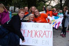 Demokrati-tog ved Domkirka i Stavanger