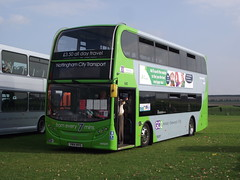 YN14MVO (Nottingham City Transport) 21-09-2014 Duxford Showbus (routemaster2217) Tags: bus transport duxford doubledecker imperialwarmuseum adl iwm nottinghamcitytransport e400 alexanderdennis lowfloorbus scanian230ud adlenviro400 showbus2014