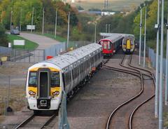 Class 387 (Sam Tait) Tags: old test electric track rail railway class testing multiple emu unit 387 dally asfordby 387102