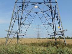by wind & wire (webbmartin1951) Tags: kent pylons powerstation windfarm turbines windturbines
