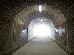 The light at the end of the tunnel (♔ Georgie R) Tags: bridge sussex railway crawley flickrexplore