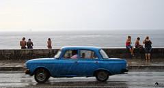 Lluvia Malecon (Re-pub) (Matrec) Tags: auto road rain landscape lluvia strada persone malecon moment habana pioggia temporale macchine avana