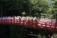 Nunobashi-kanjoe (Tokyo Views) Tags: bridge red white japan japanese buddhist ceremony culture buddhism kimono toyama tateyama shingon ashikuraji
