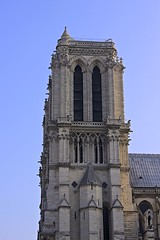 Notre-Dame Cathedral (oxfordblues84) Tags: blue sky paris france building architecture europe catholic towers bluesky catholicchurch frenchgothic ledelacit cathdralenotredame westfronttowers notredamecathedra archdioceseofparis