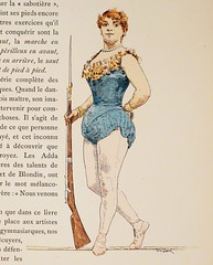 A Sharpshooter on a Wire by Jules Garnier (lhboudreau) Tags: carnival illustration champselysees book artist drawing circus rifle illustrations drawings books illustrator handcolored sharpshooter 1889 balancingact circusact illustratedbooks illustratedbook balanceact eplon frenchcircus circusacts circuslife carnivalact lesjeuxducirque pariscircus carnivalacts julesgarnier lavieforaine bookinfrench huguesleroux eplonnourrit