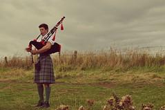 Kilts and Pipes (StellaDeLMattino) Tags: uk trip boy sky music man hot sexy nature grass island scotland countryside nikon kilt unitedkingdom pipes pipe young handsome instrument scozia d5000