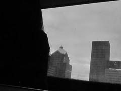 monochrome monday (jojoannabanana) Tags: city reflection window monochrome silhouette buildings rochester monday monochromemonday 3652014