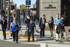 California Street (sirgious) Tags: sanfrancisco california street pedestrians