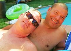 sunpool 157 (danimaniacs) Tags: shirtless man hot cute sexy guy smile beard handsome hunk stud hunky scruff sunpool