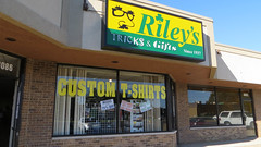 rileys tricks anf gifts. september 2014 (timp37) Tags: street sign shop store illinois since september hills tricks gifts trick rileys palos 1937 111th 2014