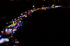 Painting with light  {Explored 9/25/2014} (moke076) Tags: atlanta summer blur colors night speed georgia lights nikon flickr slow bright parade explore shutter lanterns lantern beltline explored d7000