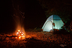 The Camp (G Michael Lewis) Tags: longexposure camping camp nature night outdoors midwest flames tent campfire missouri sparks ozarks
