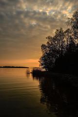 Nåtö Sund, Åland (Marc Arnoud Rogier van der Wiel) Tags: trees sunset sky reflection water clouds landscape bay spring nikon cloudy outdoor dusk ngc serene sund åland d600 ourplanet nåtö wwwsrbphotographiccom