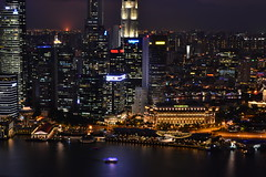 Singapore (capreoara) Tags: bridge sea museum night marina bay flyer nikon singapore orchard september esplanade promenade helix sands financial fullerton merlion ion 2014 ghaut doby d3100