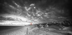 Lighthouse Island of Texel - The Neterlands - (shoot it!) Tags: winter bw panorama cloud lighthouse seascape haven cold clouds photoshop canon cutout landscape island evening blackwhite toren dunes wolken panoramic filter marco avond duinen vuurtoren texel eiland petroleum zw wolk koud northholland zww cocksdorp cutoutcolor thenerherlands 2013 vuurtorenweg eierland noordhollandsduinreservaat worldlandscape canon5dmarkii struijlaart marcostruijlaart georgiers photoshopcs5 aposten pharoline havengeulen