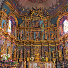 San Juan De luz (disparkys) Tags: panorama france church wall 50mm catholic minolta sony saints colourful basque luxurious a580