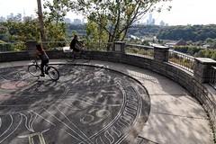 Orbiting Bodies (Michael Mitchener) Tags: chesterhill lookout zodiak bicycle bike circle orbit michaelmitchenercom dre2016