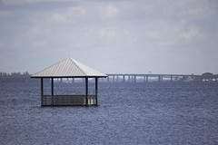 A pavilion for canoe or kayakers (DFChurch) Tags: blue water coral florida cape fl