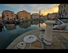 """beauty of Piran"" (Karel Hrouzek P H O T O (back again)) Tags: morning sea sun church water clouds port sunrise reflections square dawn mirror pier boat town seaside ship jetty wideangle rope unesco slovenia ljubljana piran waterscape kirch infinitexposure"