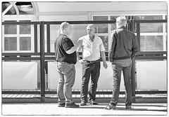 A discussion (Xerethra) Tags: bw 35mm geotagged spring nikon europa europe sweden candid skandinavien may streetphotography sverige scandinavia sollentuna maj vår svartvit 2013 stockholmslän nikond80 turebergstorg turebergstorgsollentunastockholmslänsverige