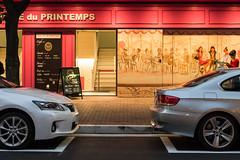 20140929_03_LEXUS & BMW (foxfoto_archives) Tags: rain japan night photoshop 35mm canon eos tokyo ginza kiss f14 sigma snap adobe bmw    56 dg lexus yurakucho lightroom  x7    hsm  a012