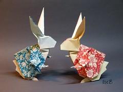 The White Rabbit or Rabbit in Wonderland (esli24) Tags: origami thewhiterabbit origamirabbit esli24 ilsez keigomatsuda rabbitinwonderland haseinalicewunderland