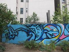Marc Cram Concepts, at First Street Green (Scoboco) Tags: streetart eastvillage graffiti lowereastside gothamist firststreetgreen marccram