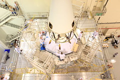Launch Abort System Install to Orion (NASAKennedy) Tags: system orion kennedyspacecenter launch facility abort explorationflighttest1 eft1