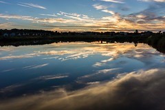 Fixed Settings (ManzeckPhotography) Tags: sunset cloud reflection weather wisconsin landscape pond madison cirrus