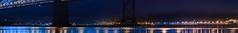 harbor coats (pbo31) Tags: sanfrancisco california bridge blue panorama black color reflection northerncalifornia night dark bay nikon october large panoramic baybridge embarcadero bayarea 80 d800 portofoakland 2014 stitcheed