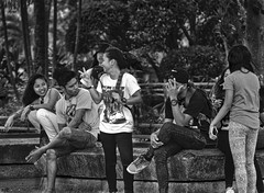 Students (Beegee49) Tags: students sitting street posing park life silay city philippines