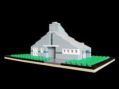 LEGO Vanna Venturi House - Front 2 (keoarchitect) Tags: building design architect postmodern complexityandcontradiction postmodernism pennsylvania house mothershouse vsba chestnuthill philadelphia legoarchitecture venturiscottbrownandassociates robertventuri lego legoideas legomoc venturi architecture