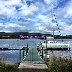 Our legendary jetty. Franklin, Tasmania