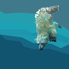 Pontinhos Polar (Mariah Santos G) Tags: art arte artedigital cor cores illustrator pontos mar mergulho urso ursopolar fauna