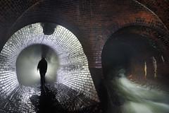 Drain (flallier) Tags: souterrain drain égout montréal tunnel silhouette eau briques conduites croisement voûtes