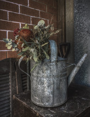 Dry Flowers (S♡C) Tags: dryflowers cafe garden cafeonceuponatime iphone5 retro vintage antique olf stilllife wateringcan
