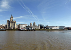 Three Graces (neuphin) Tags: liverpool pierhead waterfront royalliver building cunard portofliverpool museumofliverpool threegraces bluesky