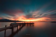 Chiemsee at Sunset (Croosterpix) Tags: lake sunset chiemsee colors sky water longexposure nikond610 nikkor1835 nisi