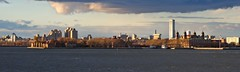 New York Bay (Sergei Zinovjev) Tags: newyork bay city newjersey jerseycity america american ellisisland island sea water sky clouds buildings view pentax pentaxk5 flickrcentral travelphotography thebestofworldpicture