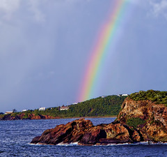 The rainbow DSC_0491 (crimsontideguy) Tags: nature rainbows virginislands nikon photoshop islands coastline harbor cruise scenic art travel