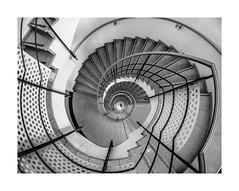 Spiral Staircase - view down (Please follow my new account K.H.Reichert) Tags: architectur deutschland curves germany blackwhite prenzlauerberg round stairs treppe kurven spiralstaircase staircase rundung stairway wendeltreppe bogen spirale architektur spiral muster architecture colors berlin pattern rund