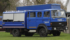 GKW a.D. (Schwanzus_Longus) Tags: delmenhorst german germany old classic vintage truck rescue emergency vehicle thw technisches hilfswerk federal agency technical relief blue coe cab over engine iveco magirus 9016 tubo