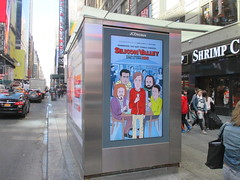 Silicon Valley Show Billboard - Daniel Clowes Cartoon Design 4200 (Brechtbug) Tags: silicon valley hbo show electronic billboard newspaper magazine newsstand news paper monolith mobile telephone phones springtime new york 2017 april 04102017 taxi cab sunny 44th street 7th ave near times square nyc pedestrians avenue st commuting shows billboards graphic novel artist daniel clowes illustration looks great art technology fueling station electricity power cartoon caricature cartoons