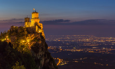 Guaita Fortress. (hanneketravels) Tags: view easter sanmarino fortress twilight roadtrip italy castle guaita evening holiday dusk