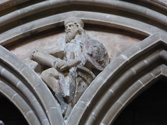 Warrior with Toad on Shield (Aidan McRae Thomson) Tags: worcester cathedral worcestershire medieval carving restored