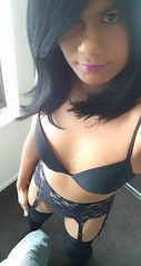 And more... (~*Haley*~) Tags: shemale tranny teentrap trap teentranny teencrossdresser tights stockings suspenders bra lingerie panties crossdresser crossdressing selfie teenshemale black dita von teese ditavonteese