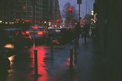 (marco.pavoni) Tags: film filmisnotdead fujifilm superia 100 iso contax contax167mt planar red lights urban wet rain milano 35mm expiredfilm