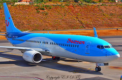 Boeing 737-8K5 G-FDZD Tuifly (Thomson Airways) (EI-DTG) Tags: planespotting aircraftspotting fnc funchalairport madeira funchal 13jul2015 boeing 737 boeing737 babyboeing busstopjet gfdzf thomsonfly tuifly