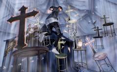 Musical chairs / {anc} Strange chair (Bisou @ The Outer Garden) Tags: virtual 3d inworld secondlife avatar 2017 prismevent strangechair prism sunbeam bloom anc sl deco virtualworld guppy