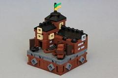Dwarven Siege Works (soccersnyderi) Tags: lego moc micro castle medieval fantasy siege works workshop dwarven dwarves ballista catapult tower creation model guilds historica mitgardia mitgardian